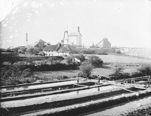 South Crofty Mine, Camborne, Cornwall. 1871