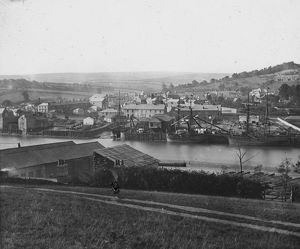 South view over town and river, Wadebridge, Cornwall. Probably 1880s