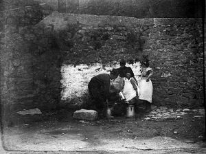 St Ia's Well, St Ives, Cornwall. Early 1900s