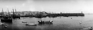 St Ives harbour from West Pier, Cornwall. Early 1900s
