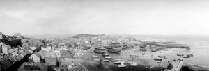 St Ives town and harbour, Cornwall. Early 1900s