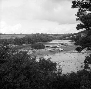 St Just Creek, St Just in Roseland, Cornwall. 1965