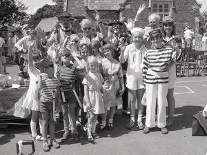 St Winnow Church of England Primary School fete, Lostwithiel, Cornwall. June 1984