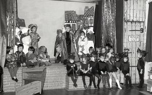 St Winnow Church of England Primary School play, Lostwithiel, Cornwall. December 1984