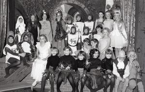St Winnow Church of England Primary School play, Lostwithiel, Cornwall. December 1982