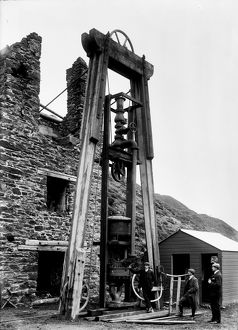 Taylor's Engine Shaft, Tywarnhayle Mine, Porth Towan, St Agnes, Cornwall. 1907