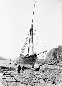 Telegraph at Port Isaac, Cornwall. Probably late 1906