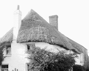 Thatched Cottage at Treworder Wollas, Ruan Minor, Cornwall. 1900