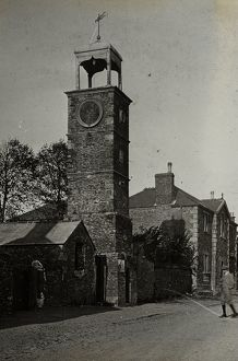 Town Clock, Fore Street, Tregony, Cornwall. Around 1925