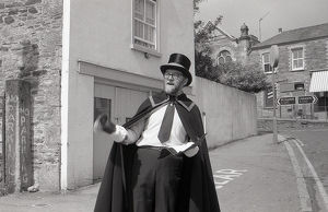 Town Crier, Lostwithiel, Cornwall. May 1988