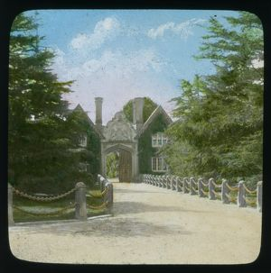 Tregothnan gatehouse and drive, Tresillian, Cornwall. Early 1900s