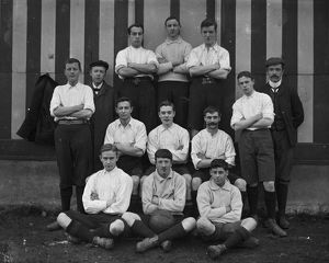 Unidentified soccer team, Cornwall. Date about 1900