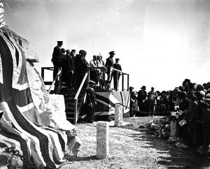 Unveiling of the Kenwyn War Memorial at the junction of Kenwyn Hill and Knight's Hill