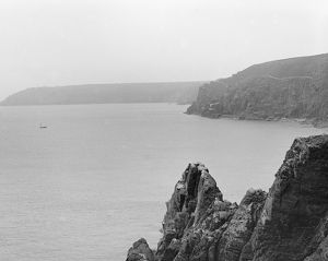 A View from Enys Head towards Bass Point, Ruan Minor, Cornwall. 1897