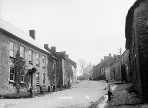 A view up the hill, Fore Street, Grampound, Cornwall. Early 1900s