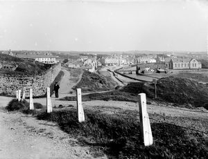 View of the town from Summerleaze, Bude, Cornwall. Early 1900s