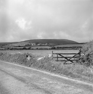 View towards Trendine, Towednack, Cornwall. 1983