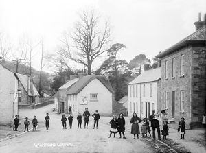 Bottom of village, Grampound, Cornwall. Early 1900s