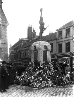 War memorial, High Cross, Truro, Cornwall. 12th November 1922