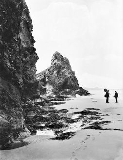 Watergate Bay near Zachry's Island, St Columb Minor, Cornwall. June 1909