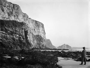 Watergate Bay Pillory Cliffs, St Columb Minor, Cornwall. June 1909