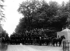 Wesley Men's Bible Class Outing, Redruth, Cornwall, around 1900