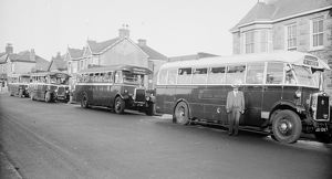 Western National buses, Redruth, Cornwall. 1926-1940