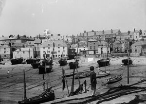 The Wharf, St Ives, Cornwall. Early 1900s