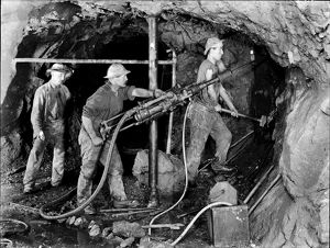 Wheal Grenville Mine, Camborne, Cornwall. 24th February 1910