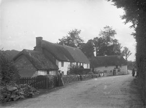 The Wheel Inn and Riverside Cottages, Tresillian, Cornwall. Around 1904