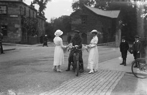 Women collecting for Russian Flag Day in Truro, Cornwall. 22nd September 1915