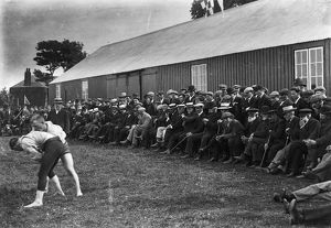 Wrestling match, Padstow, Cornwall. About 1910