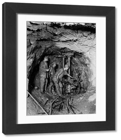 A team of miners drilling underground at 320 fathom. Photographer: Believed to be John Charles Burrow