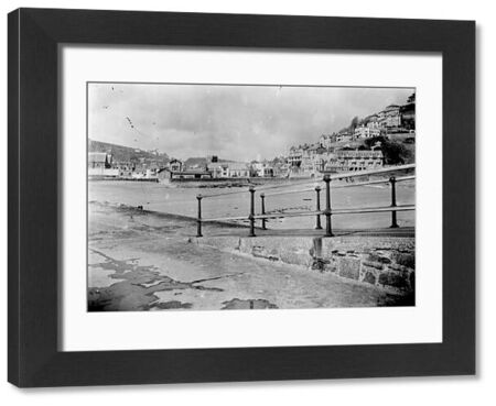 View looking across the beach towards East Looe, taken from the Banjo Pier. Photographer: Unknown