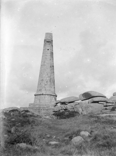 Basset Memorial, Carn Brea, Illogan, Cornwall. Early 1900s