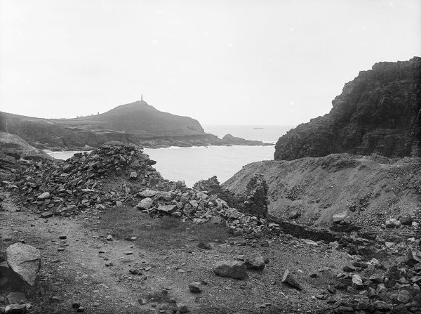 Cape Cornwall from Kenidjack Valley, St Just in Penwith, Cornwall. 1898