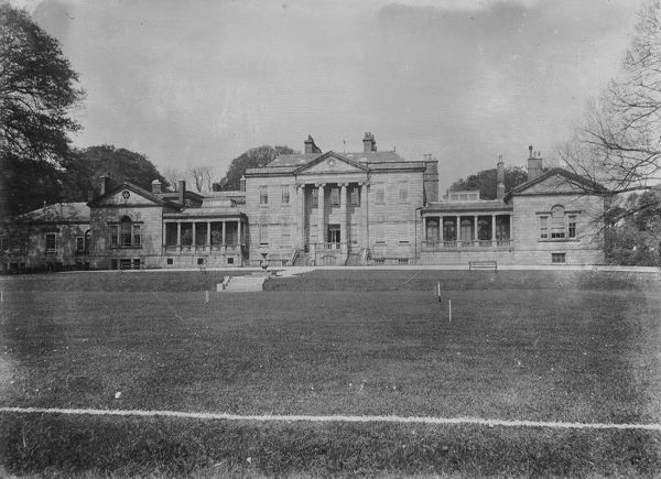 Main facade of Carclew House from the lawns