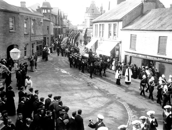 Cathedral Square, Newquay, Cornwall. 1914