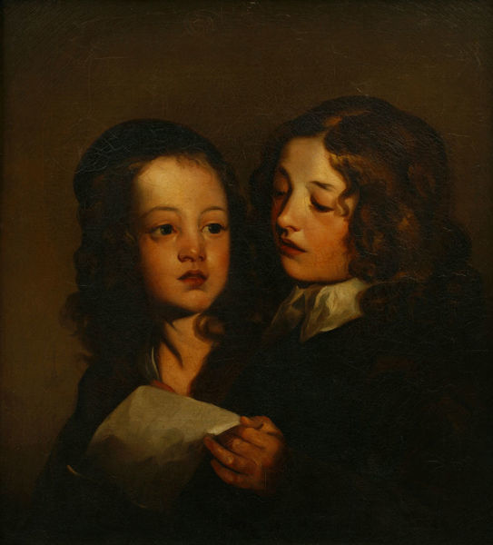 Two Children Singing, Sir Peter Lely (1618-1680)