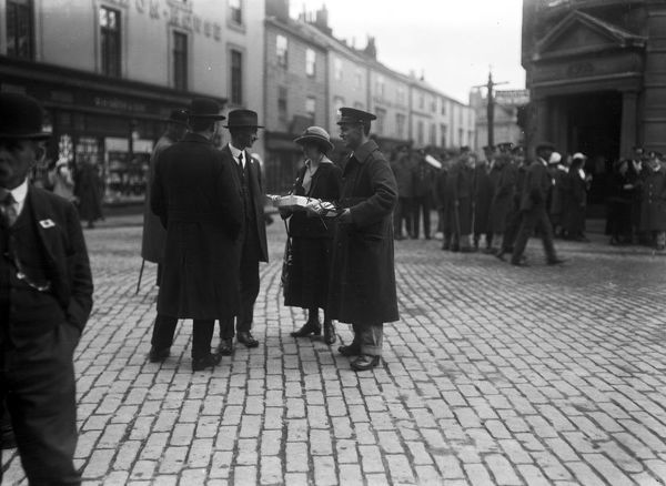 Collection day for 'Our Lady', Boscawen Street, Truro, Cornwall. 18th October 1916