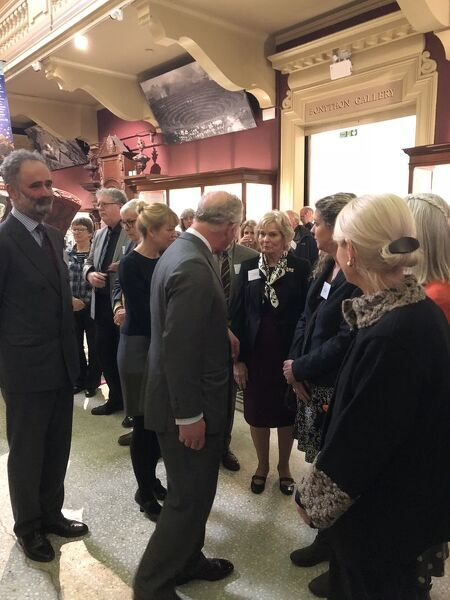 Duke of Cornwalls visit to the Royal Cornwall Museum to mark the bicentenary year of the Royal Institution of Cornwall, River Street, Truro, Cornwall. 22nd March 2018