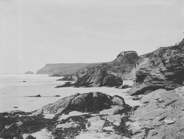 East side of Polzeath beach, St Minver, Cornwall. 1907