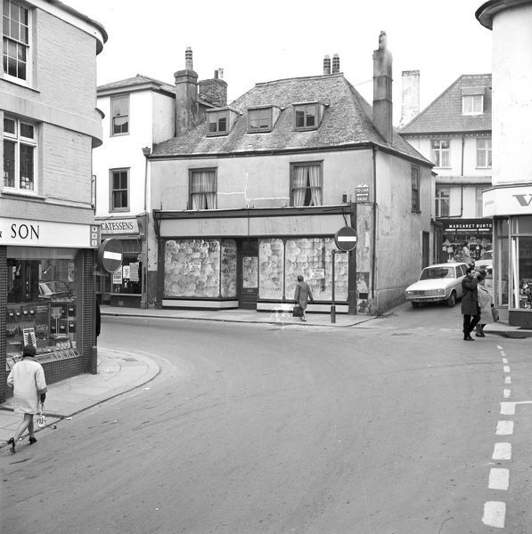 The eastern end of Fore Street, St Austell, Cornwall. 1970
