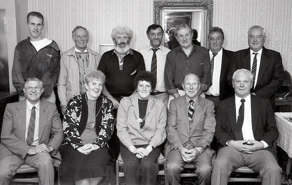 Football Team Reunion, Fowey, Cornwall. October 1992