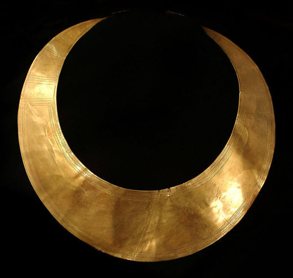 Gold Lunula, Early Bronze Age, St Juliot, Cornwall