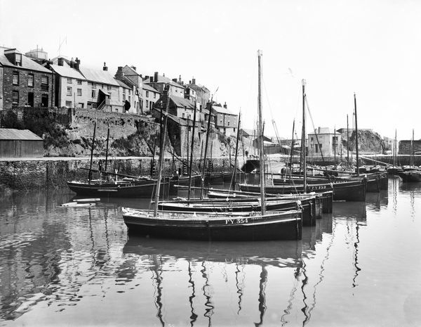 Inner harbour, northern ride, Mevagissey, Cornwall. 1909