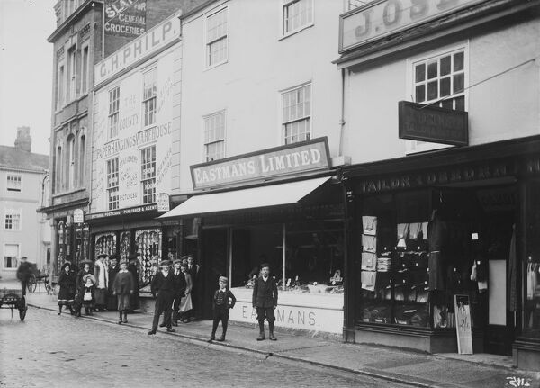 King Street, Truro, Cornwall. About 1910