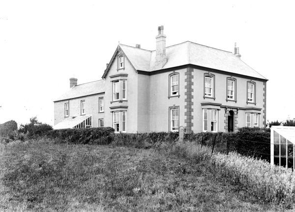 A view of Kynance Bay House, located on the edge of Lizard village. The Victorian house was built in 1888. Photographer: Unknown