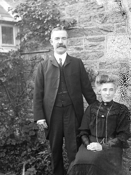 Mr and Mrs Charles Webber, Newlyn East, Cornwall. August 1907