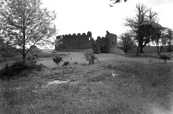 General view of the keep and entrance of Restormel Castle. Photographer: Charles Woolf
